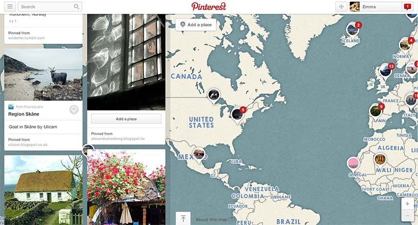 Pinterest Map