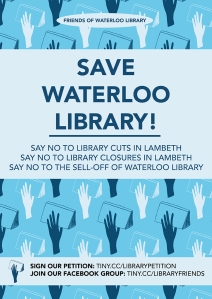 Save Waterloo Library poster